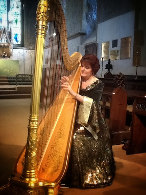 Harpist Margaret Watson performing at St Denys' 3-Nov-13