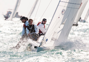 J70s one-design sailboats- sailing at windward mark- Key West