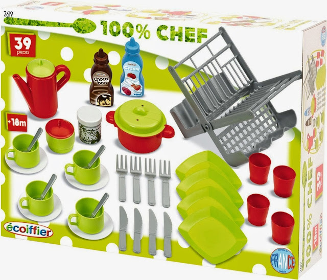 Đồ chơi 39 món dụng cụ nhà bếp Eco 2619 được làm từ chất liệu nhựa cao cấp rất an toàn