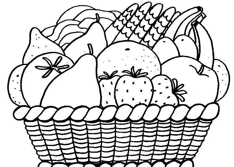 Canastas de frutas para colorear - Imagui