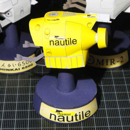 Nautile Papercraft Submersible