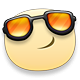 Cool Facebook sticker with Glasses