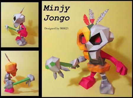 Mingy Jongo Papercraft