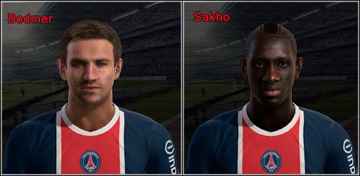 Bodmer e Sakho Faces - PES 2012