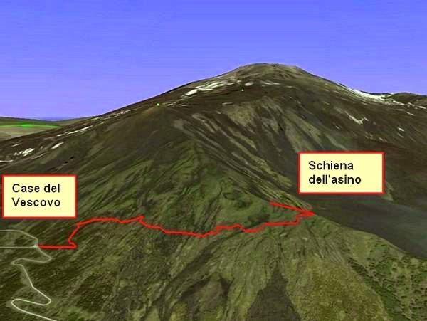 Trekking sull etna dal cratere centrale a zafferana si for Il verso dell asino