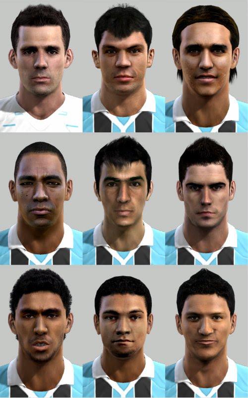 Facepack Grêmio - PES 2012