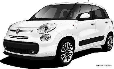 Fiat 500L design sketch final