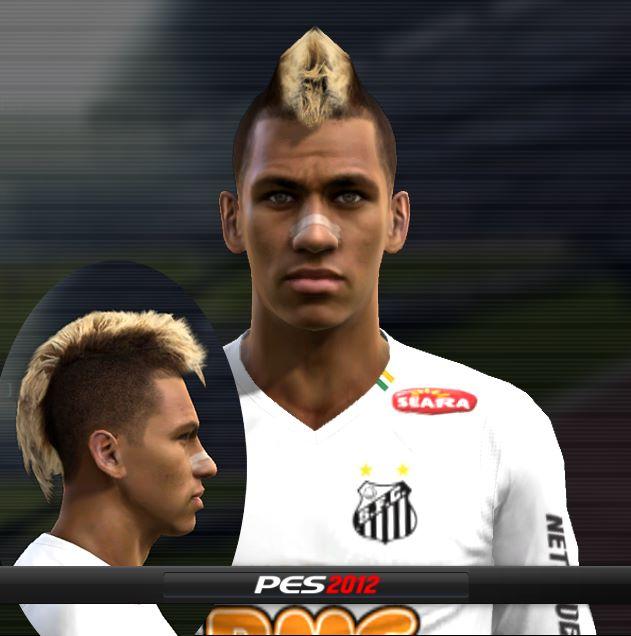ictm6o PES 2012: A melhor face de neymar para o pes 2012