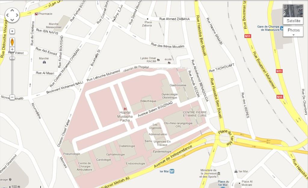 Mapping Algiers - Cartographie de la région d'Alger. رسم خريطة العاصمة Hopital%2BMustapha