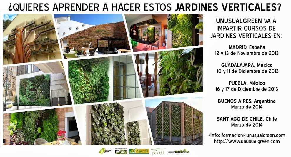 Curso de jardines verticales.