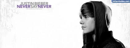 Portada para facebook de Never say never justin bieber