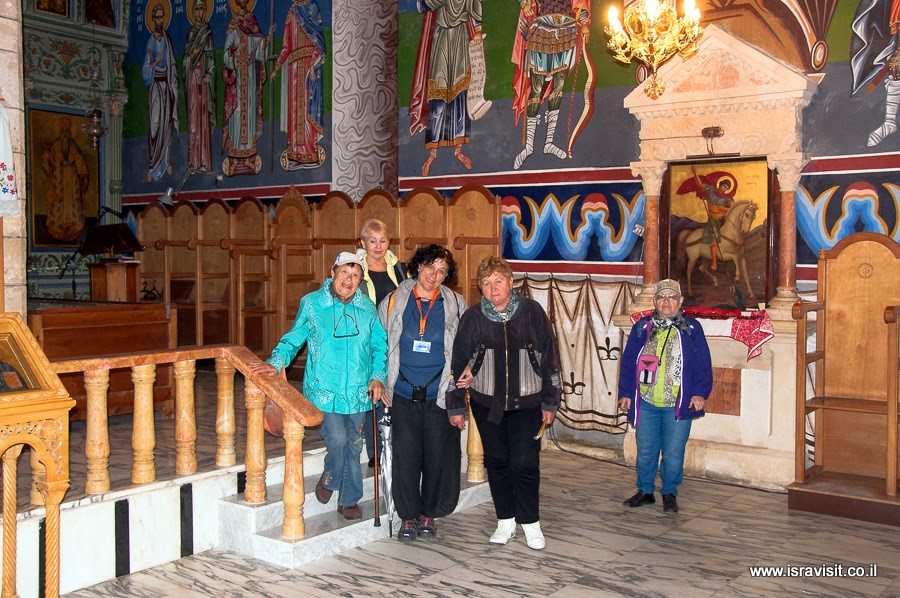Экскурсовод по православным святым местам Израиля и Иерусалима. В православном монастыре Ильи Пророка.