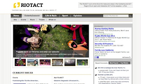 Featured article on the RiotACT