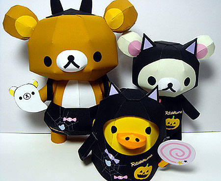Black Cat Rilakkuma Papercraft