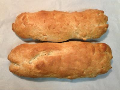 Zwieback bread after baking