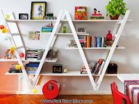 Thi công trang trí nội thất gỗ: Sử dụng giá sách một cách thông minh để trang trí nhà