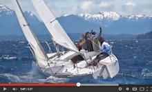 J/24 sailboat- sailing Bariloche, Argentina