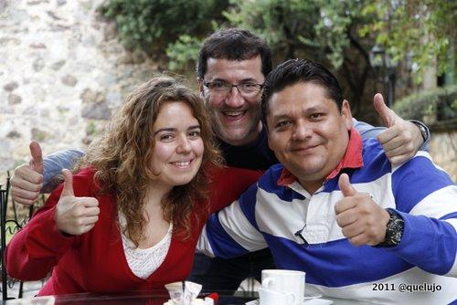 Luz Divina Merchán (@luzdimer), José Ramón Martín (@JRmarting) y Bricio Domínguez