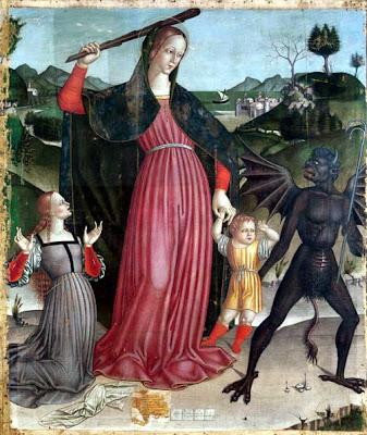 Madonna del Soccorso, de G. Vergari (Museo di Arte Sacra di Montemonaco)