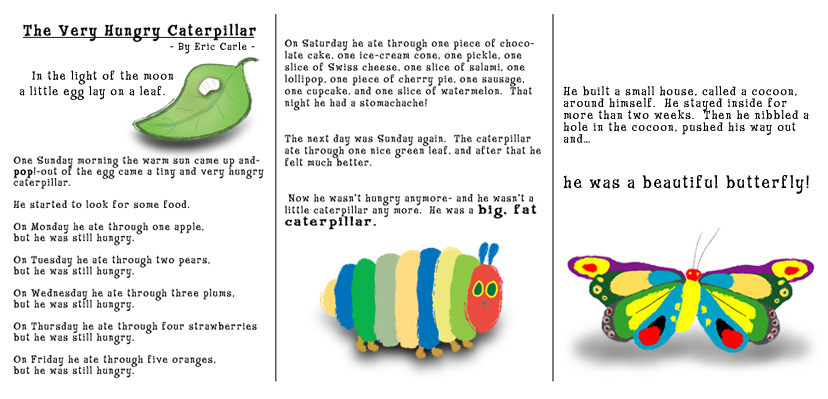Impertinent image in the very hungry caterpillar story printable