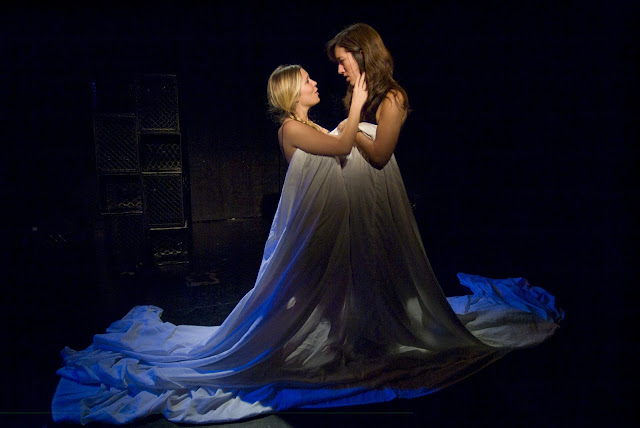 Darla and Sue in 2010 production of Lesbian Love Octagon
