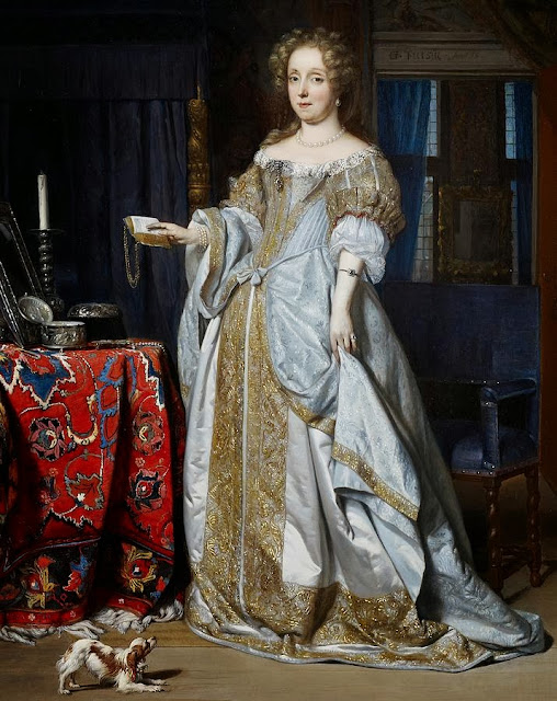 Gabriel Metsu - Portrait of Lucia Wijbrants