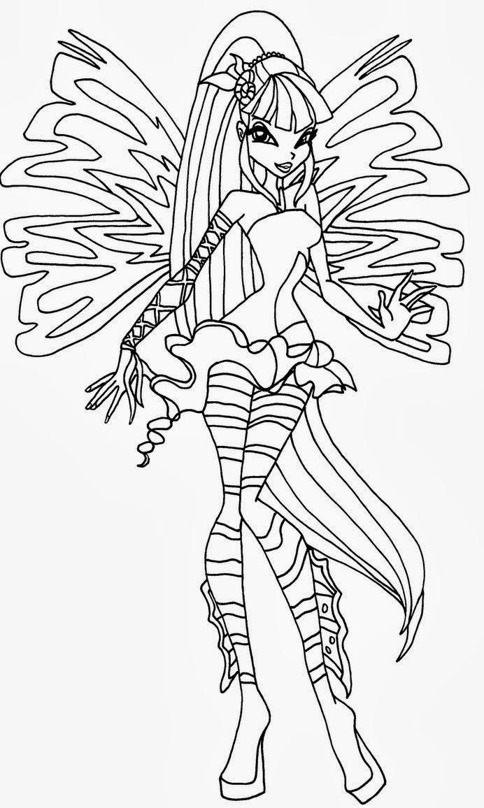 Unico disegni winx da stampare e colorare stella enchantix for Disegni winx sirenix da colorare
