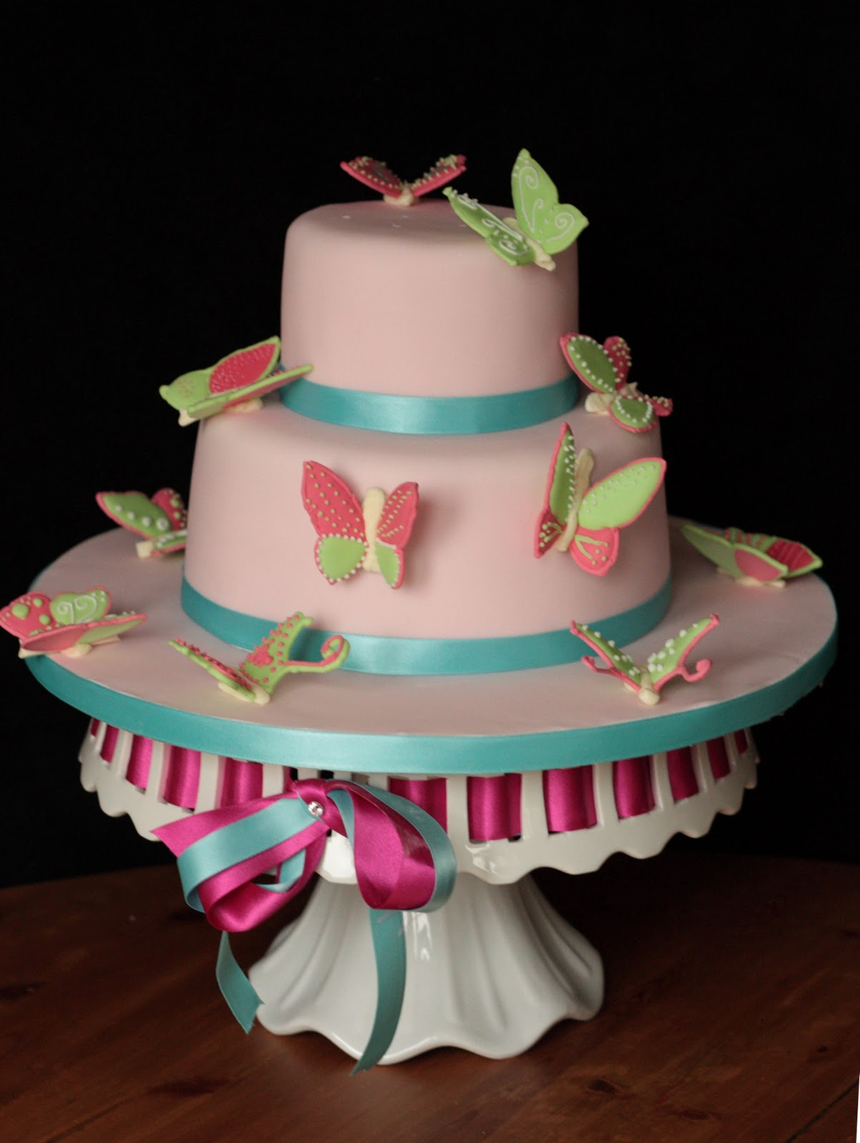 Vanilla Butterfly Birthday Cake