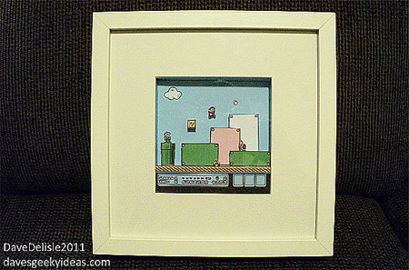 IKEA RIBBA x Super Mario Bros. 3 Papercraft