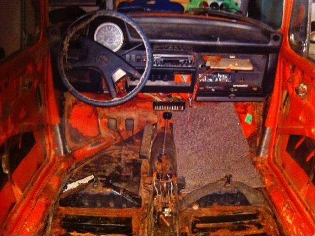 volkswagen beetle restore dash removal
