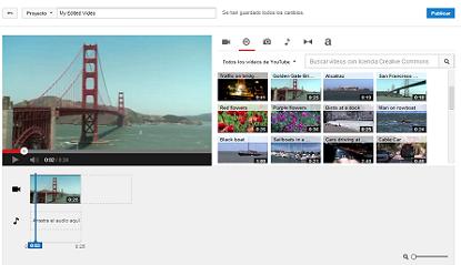 Crea tus propios videos con el Editor de Youtube