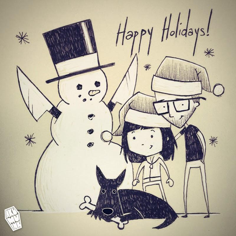 snowman, goth snowman, horror snowman, cute horror snowman, akumuink winter, akumuink holidays, akumu ink christmas, cute horror