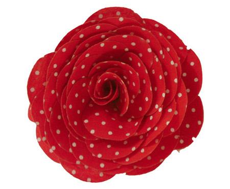 inspiração flor com estampa poá