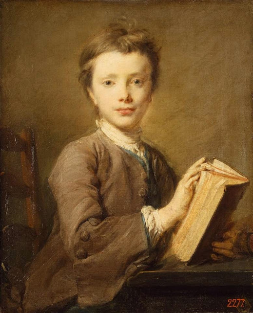 Jean-Baptiste Perronneau - Portrait of a Boy with a Book