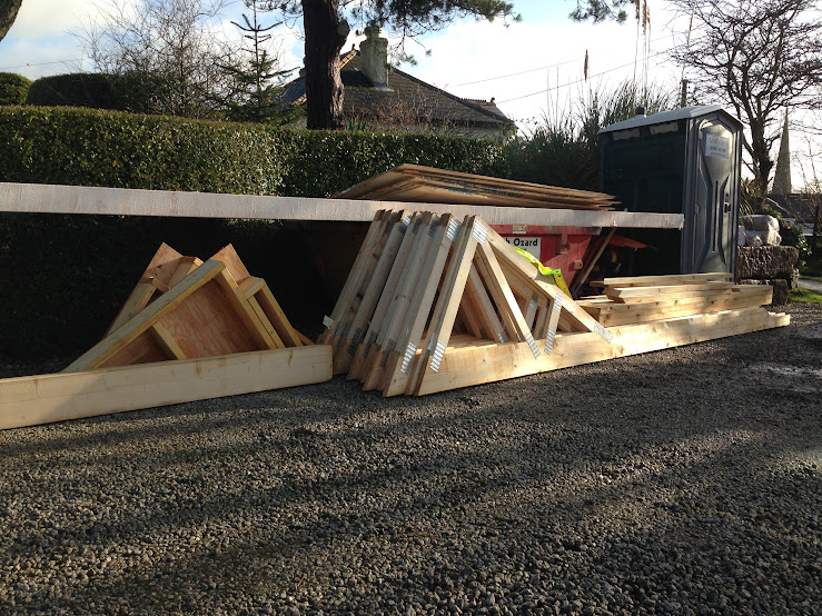 Flatpacked roof