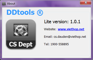 DDTools v1.0.1 (Lite version)