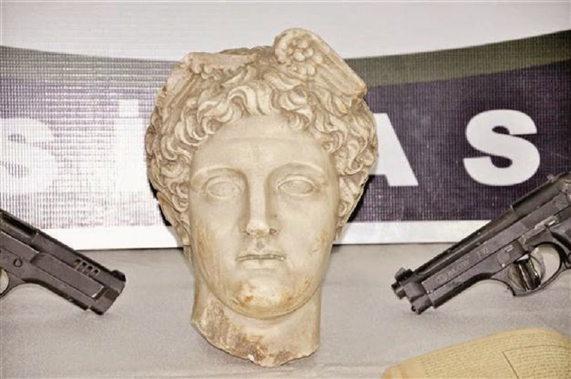 Head of Greek god Hermes seized in Turkey