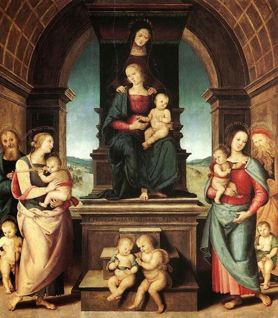 Pietro Perugino - The Family of the Madonna