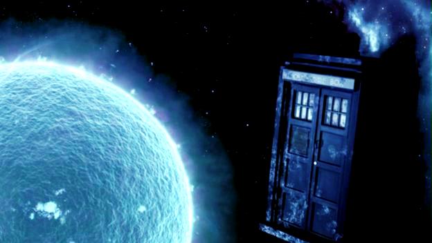 the TARDIS on ice