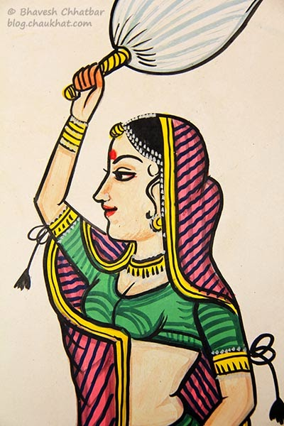 Wall painting of a dasi [maidservant]