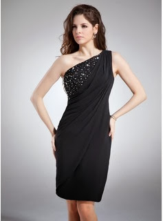 Black One-Shoulder Cocktail Dresses from DressFirst