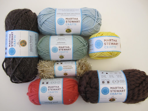 An assortment of yarn is part of the giveaway!