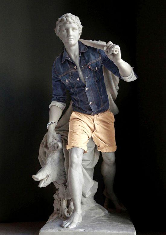 Obras maestras de la escultura con look hipster 4