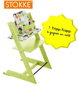 une chaise haute tripp trapp de stokke gagner cubes petits pois. Black Bedroom Furniture Sets. Home Design Ideas