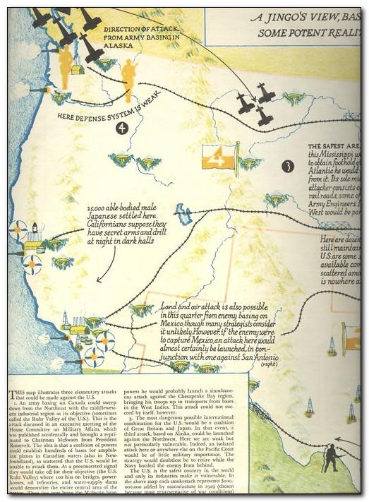 Планы вторжения в США 30-х - 40-х годов.