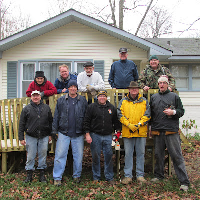 Wheelchair Ramp Build, February 2, 2013
