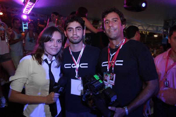 Equipe do CQC no camarote da Claudia Leitte em Salvador