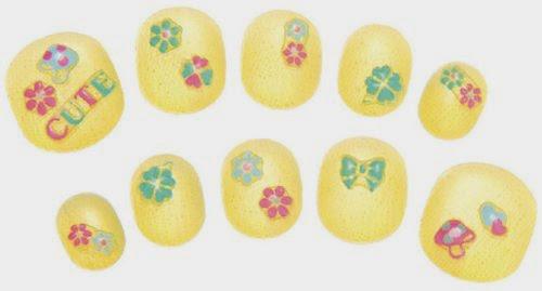 Bộ trang trí móng tay màu vàng cho bé gái những khoảnh khắc thú vị
