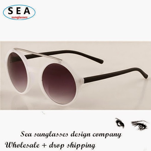 Spring round band sunglasses steamlined design the fram