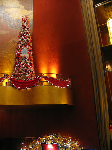 This tree is so big! Perfect for the grand interior of Radio City Music Hall.